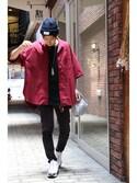 Ryusei Satoさんの(THE COMESANDGOES|ネーム)を使ったコーディネート