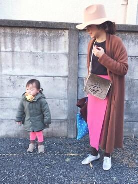 mococoさんの「IENA×Naoko Tsuji デザインラップ無地スカート◆(IENA)」を使ったコーディネート