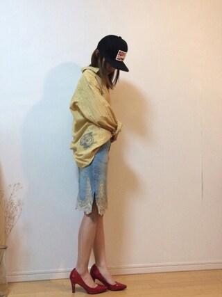 mikaさんの「右裾。シワシワやんw(メンズUSED)」を使ったコーディネート