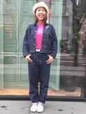 Emika Abeさんの「BEAMS BOY / BB刺繍 ロングスリーブ Tシャツ(BEAMS BOY|ビームスボーイ)」を使ったコーディネート
