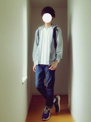 「Hanes×SHIPS AUTHENTIC PRODUCTS(ヘインズ×シップス・オーセンティック・プロダクツ): 2パック/Tシャツ Japan Fit■(SHIPS)」 using this U looks