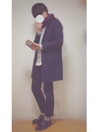 「◆雑誌【FINEBOYS】12月号掲載◆ウールチェスターコート/550182(RAGEBLUE)」 using this U looks
