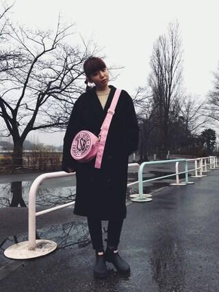 勝田里奈さんの「CLUSH SHORTニット(EMODA|エモダ)」を使ったコーディネート
