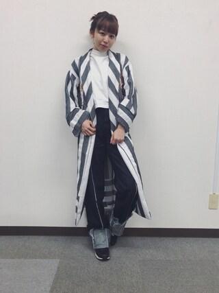 勝田里奈さんの「BACK LACE UP TEE J(MOUSSY|マウジー)」を使ったコーディネート