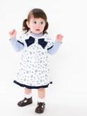 momocchiiiさんの「BeBe/長袖Tシャツワンピース2点girlギフトセット(BeBe|ベベ)」を使ったコーディネート