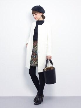 ZOZOTOWN|ayumi ;)さんの「<サンドバーグ直美さん着用>ゴブランタイトスカート(STYLEST|スタイレスト)」を使ったコーディネート