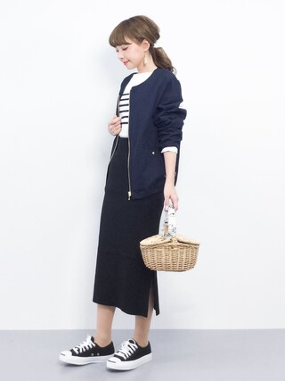 「FORK&SPOON Striped Boatneck Sweater(FORK&SPOON)」 using this ZOZOTOWN|ayumi ;) looks