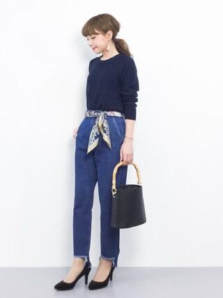 「FORK&SPOON Bulky Crewneck Knit(URBAN RESEARCH DOORS WOMENS)」 using this ZOZOTOWN|ayumi ;) looks