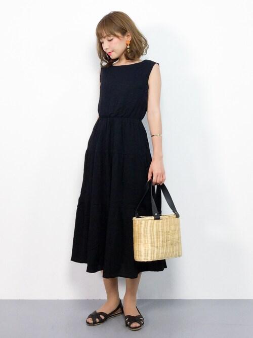 ayumi ;)さんの「PPティアードノースリワンピース(natural couture)」を使ったコーディネート