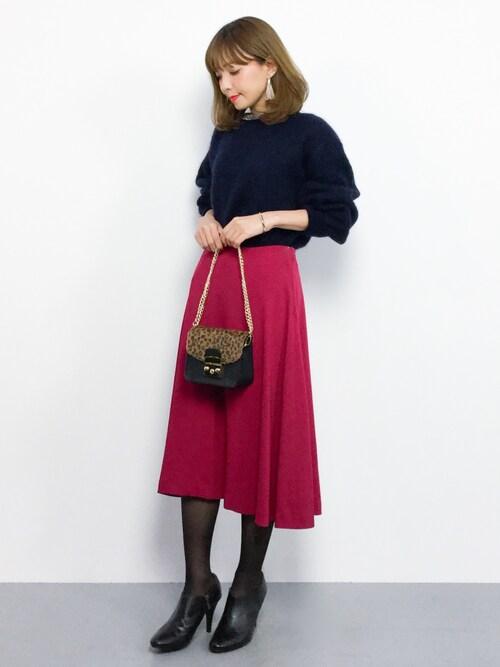 ayumi ;)さんの「カラージョーゼットスカート#(journal standard L'essage)」を使ったコーディネート
