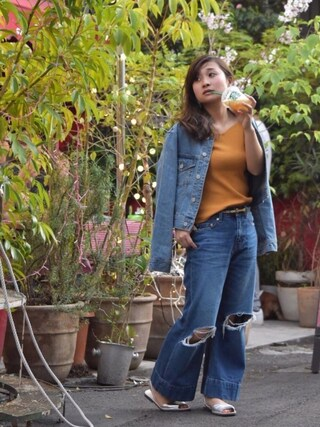 Taiyouさんの「Standard DENIM ジャケット(EVRIS EVRIS)」を使ったコーディネート