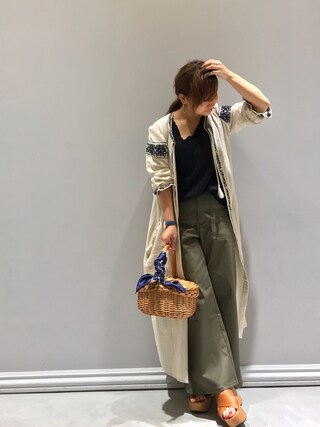 Taiyouさんの「EMBROIDERY DRESS(MOUSSY|マウジー)」を使ったコーディネート