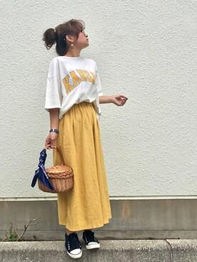Taiyouさんの「綿アソートランドネームTシャツ【niko and ...】(niko and...)」を使ったコーディネート