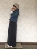 maさんの「スリットマキシスカート【niko and...】(niko and...|ニコアンド)」を使ったコーディネート