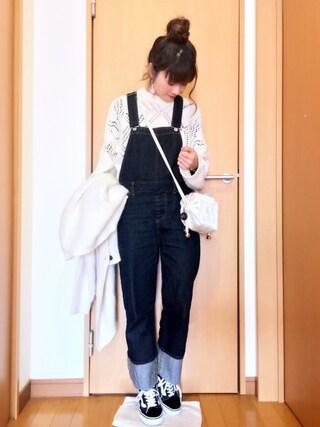 chimochiiさんの「カールクルーネックニットプルオーバー/ AE カール CN KNIT PO(Another Edition|アナザーエディション)」を使ったコーディネート