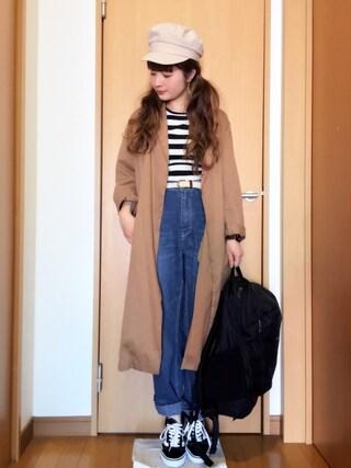 chimochiiさんの「NUBBY ルーズ パンツ(RCWB|アールシーダブリュービー)」を使ったコーディネート