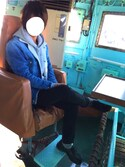 あしゅんさんの「ストレッチスリムストレート5ポケットパンツ/566394(GLOBAL WORK|グローバルワーク)」を使ったコーディネート