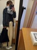 ayumiさんの「WOMEN エクストラファインメリノハイネックセーター(長袖)(ユニクロ|ユニクロ)」を使ったコーディネート