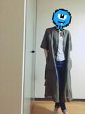「リネンコットンシャツワンピース(半袖)(ユニクロ)」 using this Moe looks