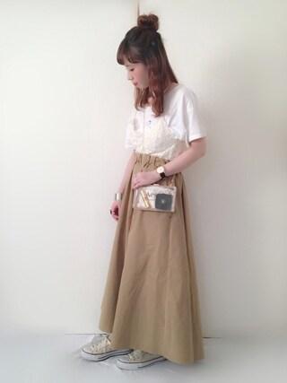 Alice*さんの「裾ゴムTee(Kastane|カスタネ)」を使ったコーディネート