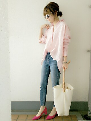 「Linen Big Shirts(TODAYFUL)」 using this コマさん looks
