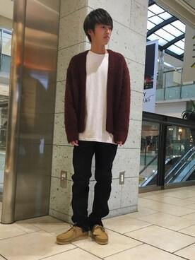 ユナイテッドアローズ 名古屋店|Takumi Shimooさんのカーディガン「BY ∴ アルパカ シャギー カーディガン◆(BEAUTY&YOUTH UNITED ARROWS|ビューティアンドユースユナイテッドアローズ)」を使ったコーディネート