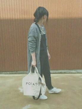 TOM.さんの「PORTER×B印 YOSHIDA / 別注 POTATO ショルダー トート(PORTER)」を使ったコーディネート