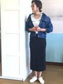 recastaffさんの「【レディース人気ランキング1位獲得】ウエストゴムリブスウェットスカート(reca|レカ)」を使ったコーディネート