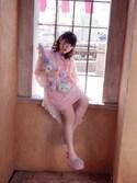 -enbao-さんの「エコファー厚底サンダル(merry jenny|メリージェニー)」を使ったコーディネート