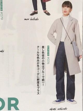 「タートルネック長袖Tシャツ(PETIT BATEAU)」 using this 潮田あかり looks