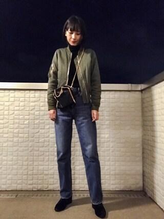 潮田あかりさんの「クラッシュベロアブーツ(MURUA|ムルーア)」を使ったコーディネート