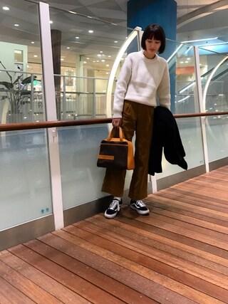 潮田あかりさんの「FORDMILLS by LEE / WIDE TROUSER(Lee|リー)」を使ったコーディネート
