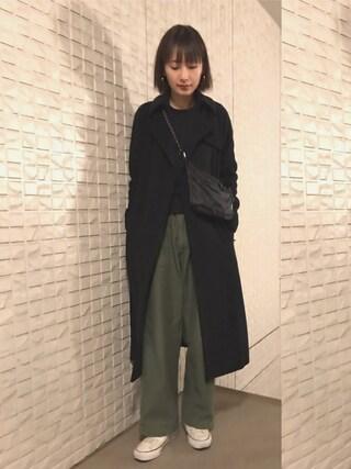 潮田あかりさんの「BACCA ウールカシミヤ ロングコート(BACCA|バッカ)」を使ったコーディネート