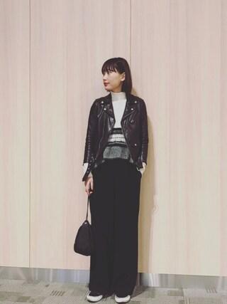 「beautiful people×MIDWEST 【別注】ライダースジャケット(beautiful people)」 using this 潮田あかり looks