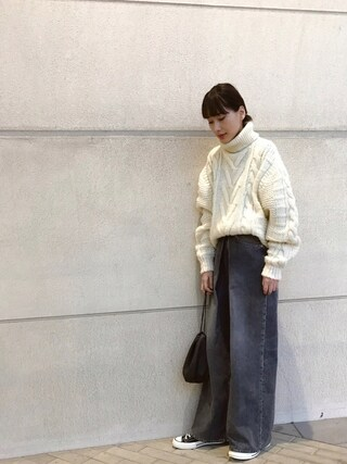 「WASHED WIDE JEANS(JOHN LAWRENCE SULLIVAN)」 using this 潮田あかり looks