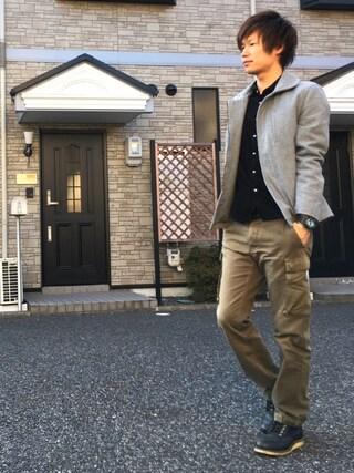 「MELTON ZIP DECK JACKET(Denime)」 using this Ryu--ta looks