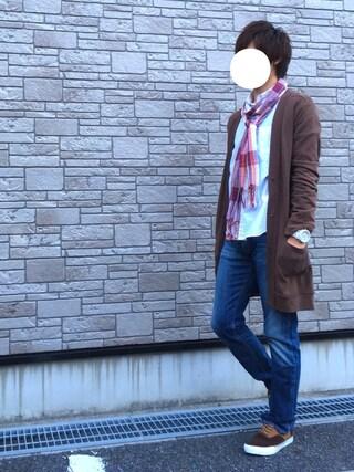 「オーバーダイカラーシャツ(nano・universe)」 using this Ryu--ta looks