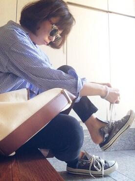 YOSHIKOさんの「ラウンドフレームサングラス(Ungrid|アングリッド)」を使ったコーディネート