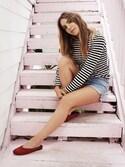 「Comme des Garçons 'Play' Stripe Long Sleeve Crewneck T-Shirt(Comme des Garcons)」 using this Erin Grey looks