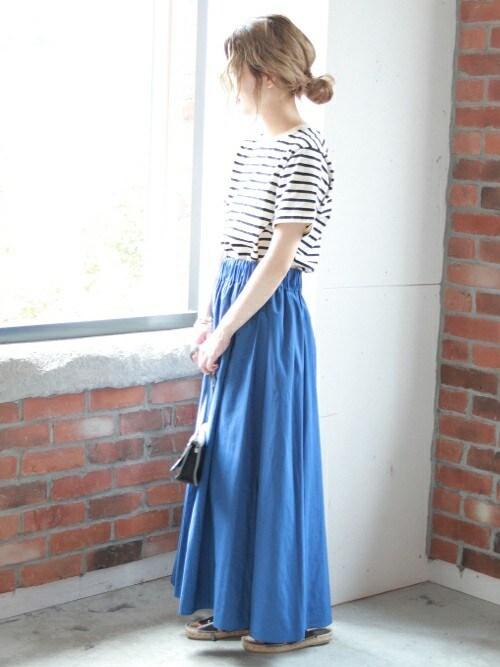 asanoさんの「スパンタイプライターマキシスカート#(JOURNAL STANDARD)」を使ったコーディネート