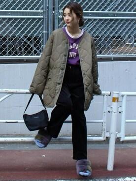 JOURNAL STANDARD 表参道|asanoさんの「キルティングビッグブルゾン#(JOURNAL STANDARD)」を使ったコーディネート