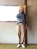 チーコさんの「オリジナル ソフトレースアップシューズ【niko and ...】(niko and...|ニコアンド)」を使ったコーディネート