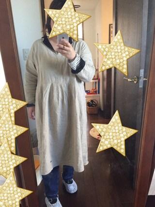 kyouさんの「配色衿ワンピース(Samansa Mos2|サマンサ モスモス)」を使ったコーディネート
