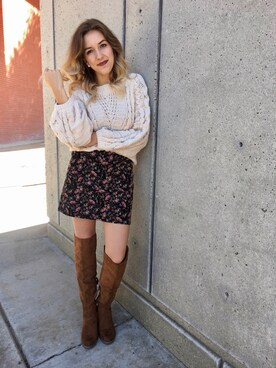 "Morgan Hannah Barker is wearing Dolce Vita ""Dolce Vita 'Ohanna' Over the Knee Boot (Women) (Nordstrom Exclusive)"""