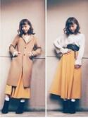 Mikiさんの「ウールカシミヤチェスターコート(UNITED TOKYO|ユナイテッドトウキョウ)」を使ったコーディネート