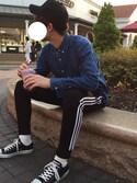 """わさっぷ is wearing adidas """"トラックパンツ [SST TRACK PANTS] オリジナルス"""""""