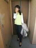 MARINOさんの「WOMEN ウルトラライトダウンジャケット(ユニクロ|ユニクロ)」を使ったコーディネート