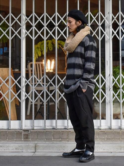 Decoさんの「mn1514 - Loose Mohair Knit Pullover ニット(CAMBIO)」を使ったコーディネート