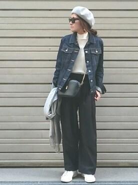 N.(N. Natural Beauty Basic)|Ayaさんのハンチング/ベレー帽「コットンサーモベレー帽(N.(N. Natural Beauty Basic)|エヌ(エヌ ナチュラルビューティーベーシック) )」を使ったコーディネート