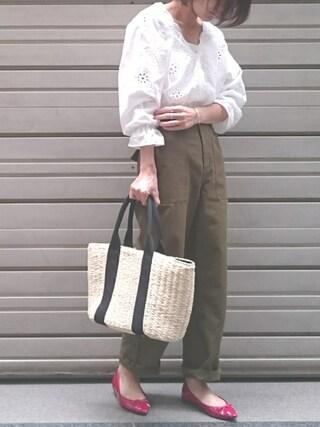 Ayaさんの「◆ベイカーパンツ(N.(N. Natural Beauty Basic)|エヌ(エヌ ナチュラルビューティーベーシック))」を使ったコーディネート